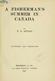 Cover of: A fisherman's summer in Canada