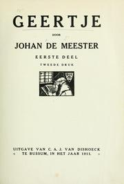 Cover of: Geertje