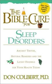 Cover of: The Bible Cure for Sleep Disorders (Bible Cure (Siloam))