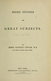 Cover of: Short studies on great subjects