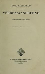 Cover of: Verdensvandrerne