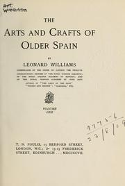 Cover of: The arts and crafts of older Spain