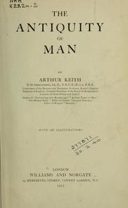 Cover of: The antiquity of man