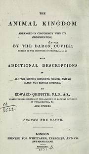 Cover of: The animal kingdom arranged in conformity with its organization
