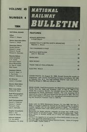 Cover of: The bulletin / [National Railway Historical Society] | National Railway Historical Society