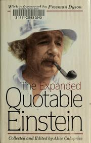 Cover of: The expanded quotable Einstein by Albert Einstein