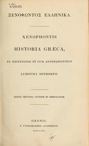 Cover of: [Xenophōntos Hellenika] by Xenophon