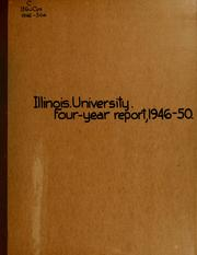 Cover of: The four-year report of the president of the University of Illinois, 1946-1950
