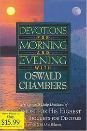 Cover of: Devotions for Morning and Evening with Oswald Chambers