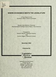 Cover of: Where economics meets the legislature