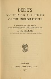Cover of: Bede's ecclesiastical history of England