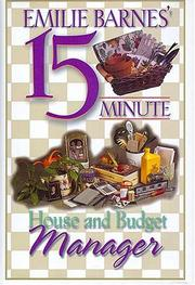 Cover of: Emilie Barnes' 15-Minute House and Budget Manager