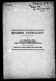Cover of: Modern pathology
