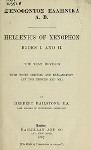 Cover of: Hellenics of Xenophon by Xenophon