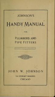Cover of: Johnson's handy manual for plumbers