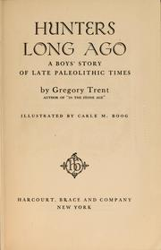 Cover of: Hunters long ago