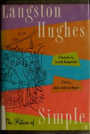 Cover of: The return of Simple | Langston Hughes