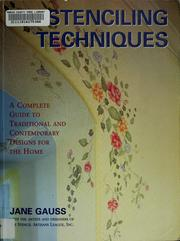 Cover of: Stenciling techniques
