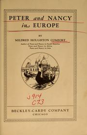 Peter and Nancy in Europe by Mildred Houghton Comfort
