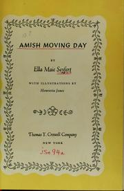 Cover of: Amish moving day | Ella Maie Seyfert