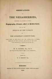 Cover of: Observations on the Neilgherries