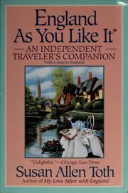 Cover of: England as you like it | Susan Allen Toth