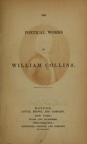 Cover of: The poetical works of William Collins