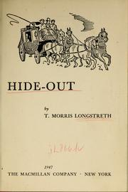 Cover of: Hide-out