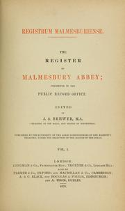 Cover of: Registrum malmesburiense = | Malmesbury Abbey