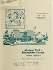 Cover of: Montana visitor information centers | Montana. Dept. of Commerce