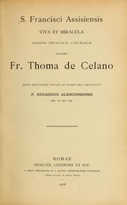 Cover of: S. Francisci Assisiensis