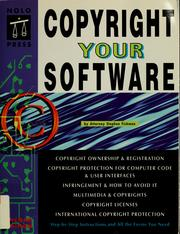 Cover of: Copyright your software | Stephen Fishman