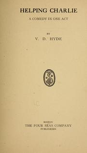 Cover of: Helping Charlie | V. D. Hyde