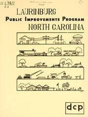 Public improvement program for Laurinburg, North Carolina by North Carolina. Division of Community Planning