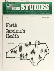 North Carolina's health by Kathryn Surles