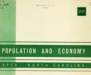 Cover of: Population and economy, Apex, North Carolina | Lawerance Mann