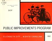 Cover of: Public improvements program, Elizabeth City, North Carolina | North Carolina. Division of Community Planning