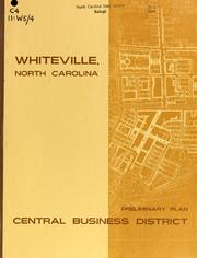 Whiteville, North Carolina, preliminary plan, central business district by North Carolina. Division of Community Planning
