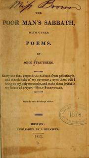 Cover of: The poor man's Sabbath