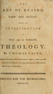 Cover of: The age of reason | Thomas Paine