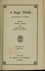 Cover of: A magic world by Margery Gordon