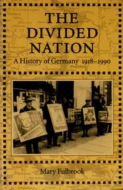 Cover of: The divided nation