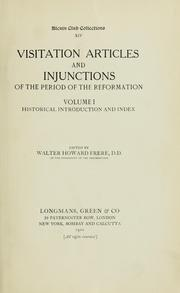 Cover of: Visitation articles and injunctions of the period of the Reformation