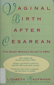 Cover of: Vaginal birth after cesarean
