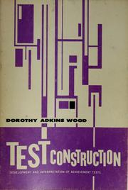 Cover of: Test construction