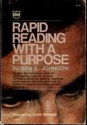 Cover of: Rapid reading with a purpose