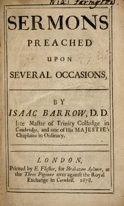 Cover of: Sermons preached upon several occasions