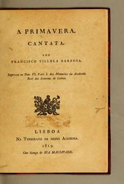 Cover of: A primavera. Cantata