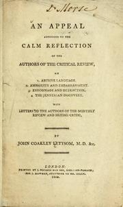 Cover of: An appeal addressed to the calm reflection of the author of the Critical Review