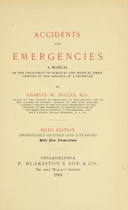 Cover of: Accidents and emergencies